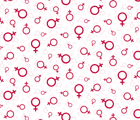 Woman in red fabric by victorialasher on Spoonflower - custom fabric