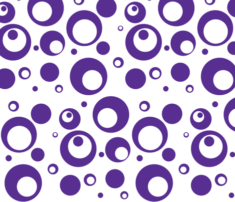 Circles and Dots White with Grape Juice fabric by ripdntorn on Spoonflower - custom fabric