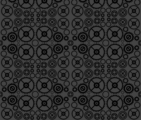 Steampunk Gears fabric by ripdntorn on Spoonflower - custom fabric