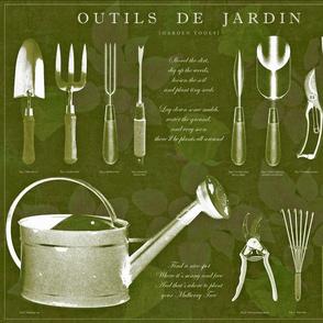 Outils de jardin: Olive, darker