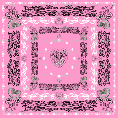 bandana - pink, big