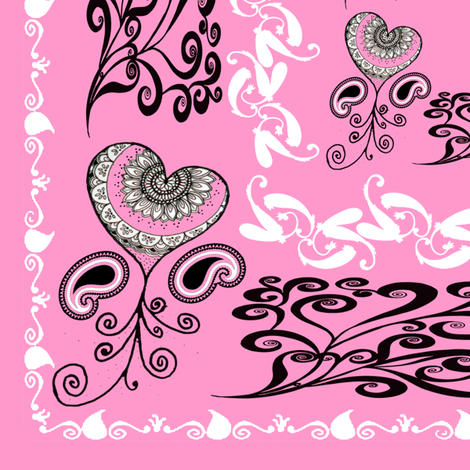 bandana - pink, big fabric by krs_expressions on Spoonflower - custom fabric