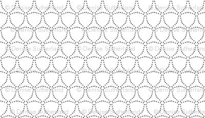 Dotty Triangles - Black on White