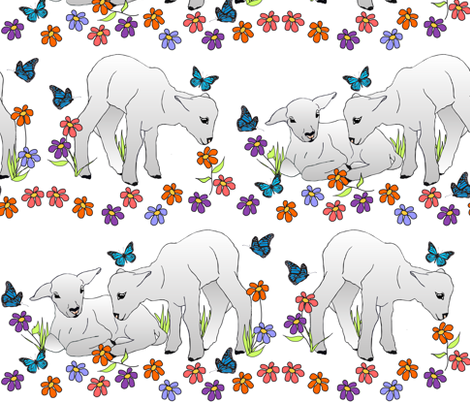 sping_lambs_2 fabric by tat1 on Spoonflower - custom fabric