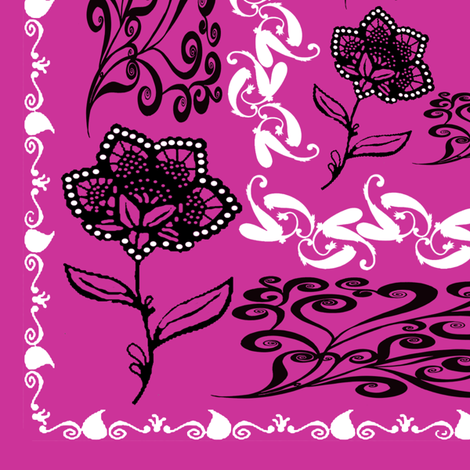 bandana - purple, big fabric by krs_expressions on Spoonflower - custom fabric