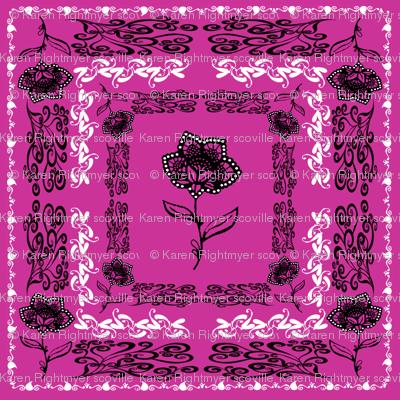 bandana - purple, small