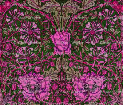William Morris ~ Honeysuckle ~ Cheshire Cat