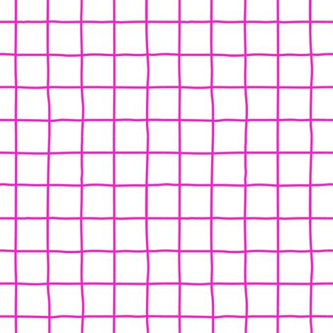 grid fuschia fabric by chantae on Spoonflower - custom fabric
