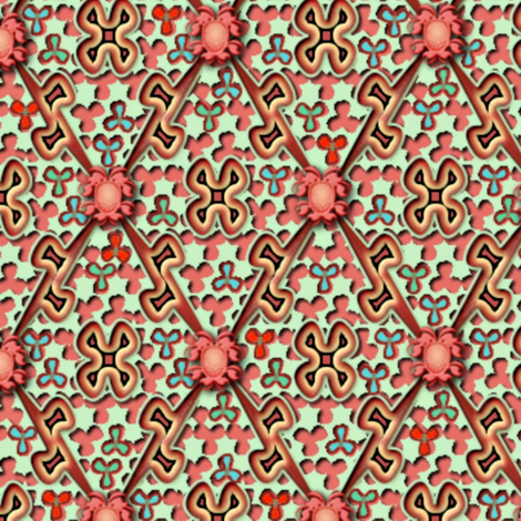 ©2011 The Easter Egg - bigger fabric by glimmericks on Spoonflower - custom fabric