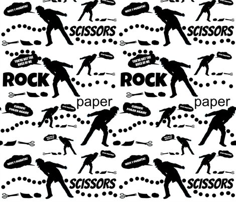 Rock, Paper, Sissors fabric by whimzwhirled on Spoonflower - custom fabric