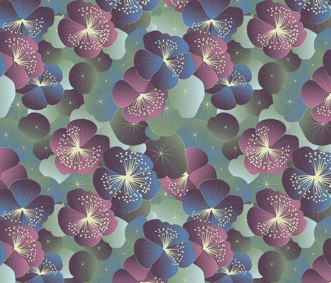 midnight garden fabric by kociara on Spoonflower - custom fabric