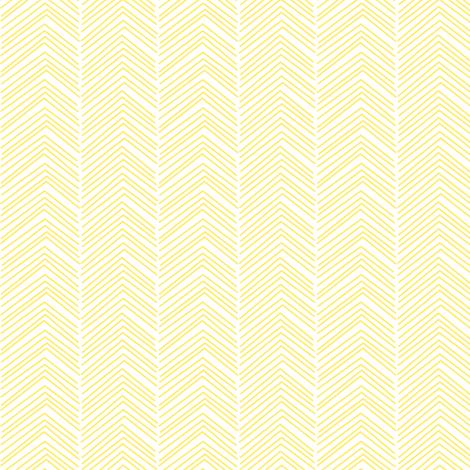 chevron love lemon yellow fabric by misstiina on Spoonflower - custom fabric