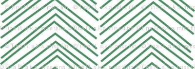 chevron love kelly green