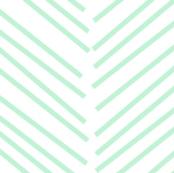 chevron love ice mint green