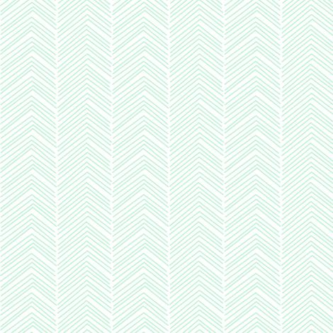chevron love ice mint green fabric by misstiina on Spoonflower - custom fabric