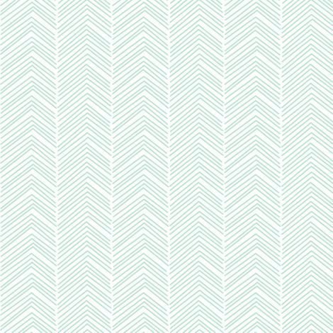 chevron love mint green fabric by misstiina on Spoonflower - custom fabric