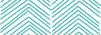 chevron love teal