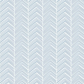 chevron love cornflower blue