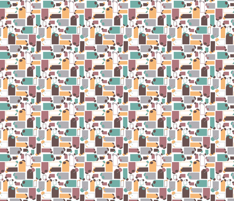 ceramic fabric by jaquelina on Spoonflower - custom fabric