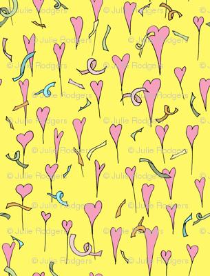 hearts and confetti!