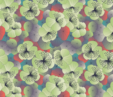 magical garden detailed fabric by kociara on Spoonflower - custom fabric