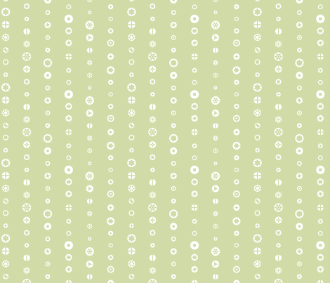 Screw heads, green fabric by linkolisa on Spoonflower - custom fabric