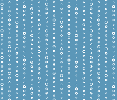 Screw heads, dark blue fabric by linkolisa on Spoonflower - custom fabric