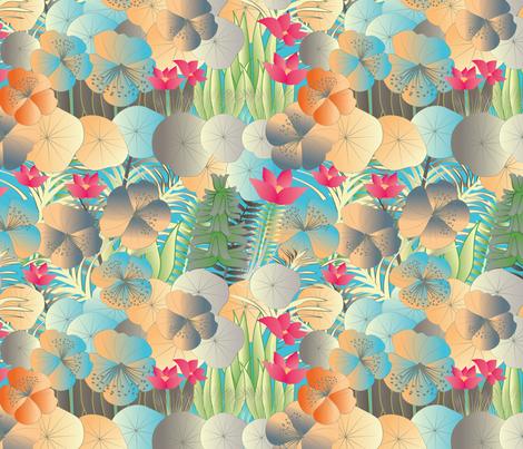 tropical flora vivid fabric by kociara on Spoonflower - custom fabric