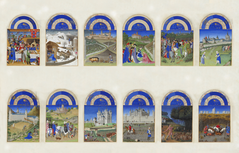 très riches heures fabric by mossbadger on Spoonflower - custom fabric