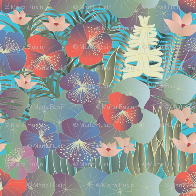 tropical flora bright