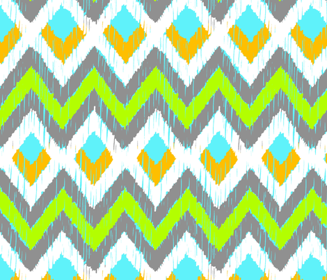 NATIVO - lime, aqua, goldenrod + cool gray fabric by marcador on Spoonflower - custom fabric