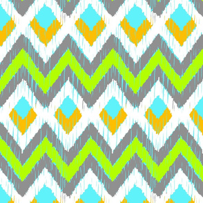NATIVO - lime, aqua, goldenrod + cool gray