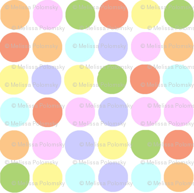 Small Print Circles in Pastels