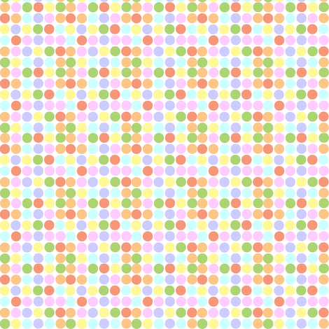 Small Print Circles in Pastels fabric by theartwerks on Spoonflower - custom fabric