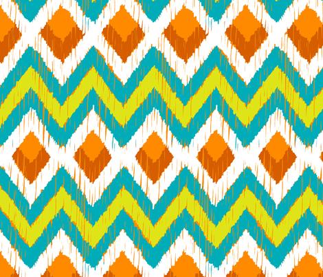 NATIVO - teal, lime, mandarin  fabric by marcador on Spoonflower - custom fabric