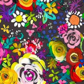 Les Fleurs // Charcoal