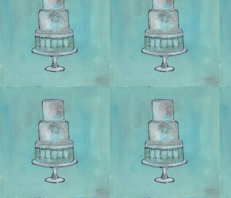 Wedding Cake Painting fabric by artthatmoves on Spoonflower - custom fabric