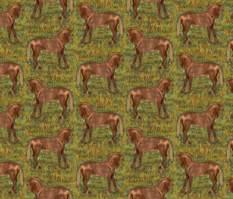 Golden Chestnut Horse fabric by eclectic_house on Spoonflower - custom fabric