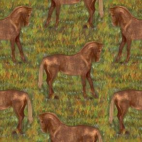 Golden Chestnut Horse