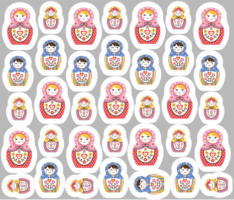 matryoshka_yard fabric by maeli on Spoonflower - custom fabric