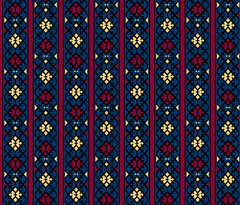 17th Century Kilim Border fabric by pond_ripple on Spoonflower - custom fabric