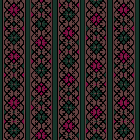 17th Century Kilim Border II. fabric by pond_ripple on Spoonflower - custom fabric