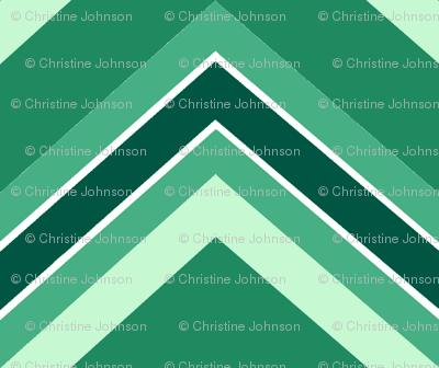 Chevron / emerald