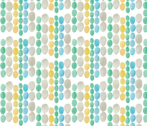 Drops of Water color eggs fabric by lizartelier on Spoonflower - custom fabric