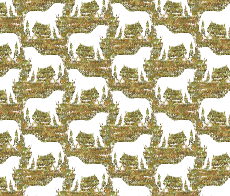 Snow Horse fabric by eclectic_house on Spoonflower - custom fabric