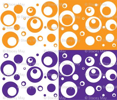 Circles and Dots Grape Marmalade Quad