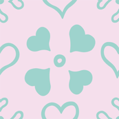 Heart Doily with Teal