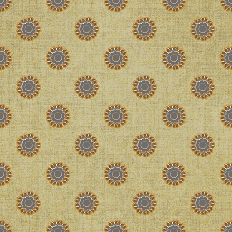 Linen and copper dot fabric by joanmclemore on Spoonflower - custom fabric