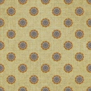 Linen and copper dot