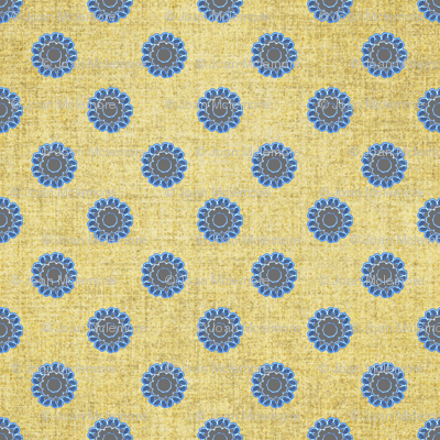 Linen and Azure floral dots